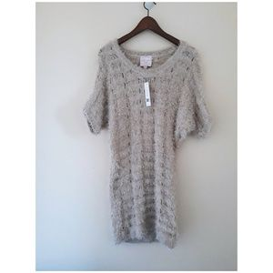 Romeo & Juliet Couture Knitted Eyelash Dress.